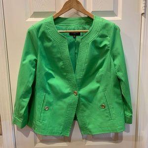 Talbots green blazer spring jacket 16 petite